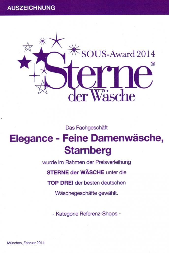 Auszeichnung Sterne der Wäsche 2014