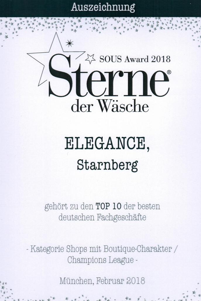 Auszeichnung Sterne der Wäsche 2018
